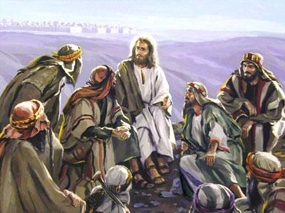 Gesù che parla ai discepoli